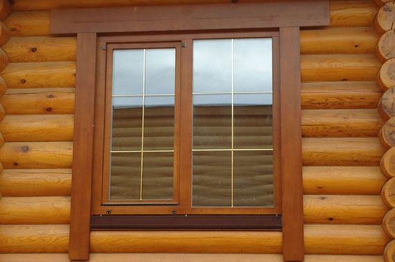 Деревянные окна - фото 22