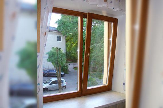 Деревянные окна - фото 17