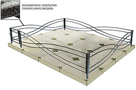Оградки из оцинкованного металлопрофиля Тип 2-3
