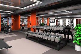 Дизайн фитнес клуба