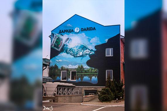 Художественная роспись стен на улице - фото 2