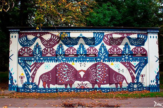 Художественная роспись стен на улице - фото 3