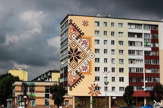 Художественная роспись стен на улице - фото 5
