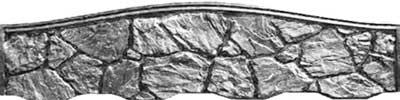Верхняя секция булыжник колотый