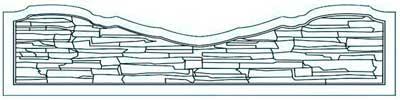 Панель средняя «скала-улыбка»